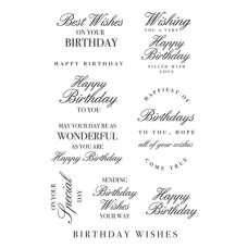 Kaisercraft Birthday Wishes Clear Stamp